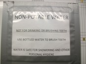 The water is clean, but not potable - in other words, do not drink it!