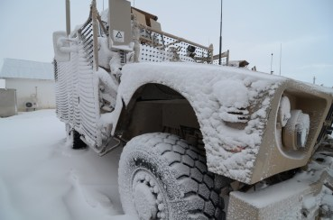 One of our MATVs after several inches of snow