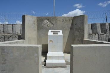 The memorial near the HLZ