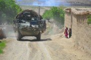 Rolling through a village