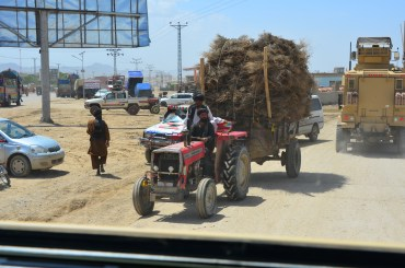 Another sight that we always see on the roads, piles of sticks/brush bundled on a vehicle