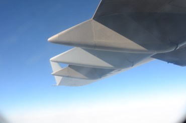 The other obligatory airplane in flight shot - the wing tip...