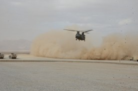 CH-47 landing at FOB Apache