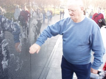 He was happy to have a chance to see it, but his time at the Korean War Memorial was a little hard for him after awhile. He blamed it on his physical pain, but I am sure it brought back a lot of unpleasant memories too