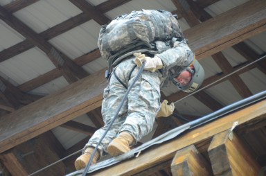 getting in position with combat load