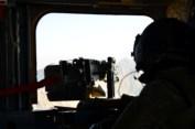 Chinook door gunner on my flight to KAF
