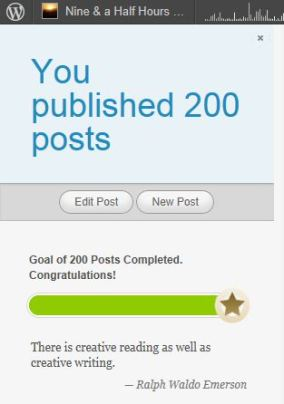 Here is my reward for 200 posts...datsardly WordPress - I did not do it for the reward, in fact, I didn't even want it so I clipped it out and attached it to this post. You can have it if you want...go ahead, take it.