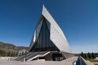 Academy Chapel Portrait photo of United States Air Force Academy Colorado by Dan Bourque