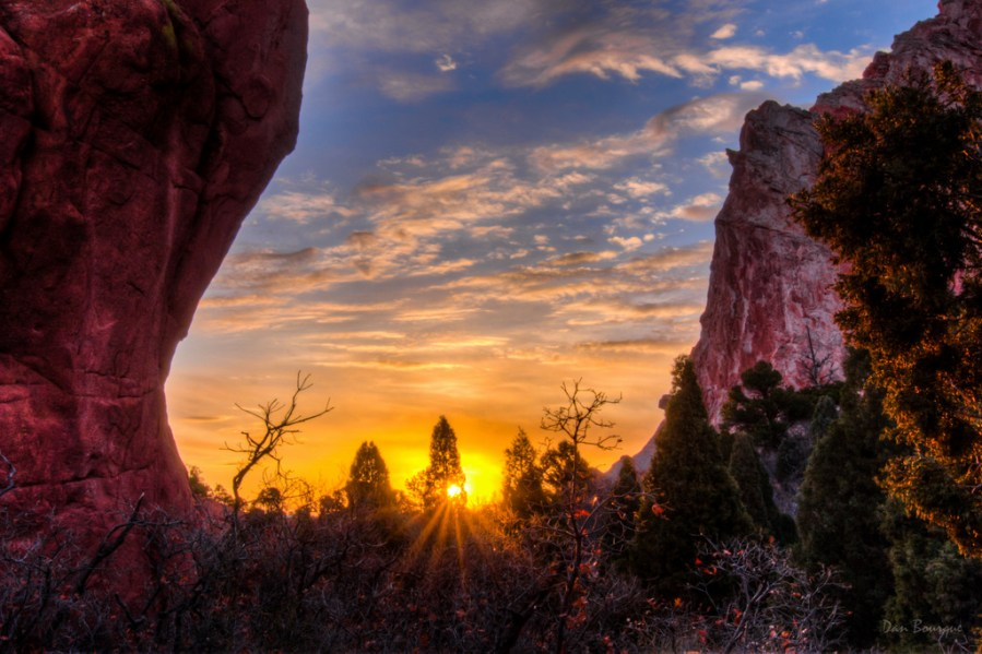First Rays in the Garden landscape photo Garden of the Gods Colorado by Dan Bourque