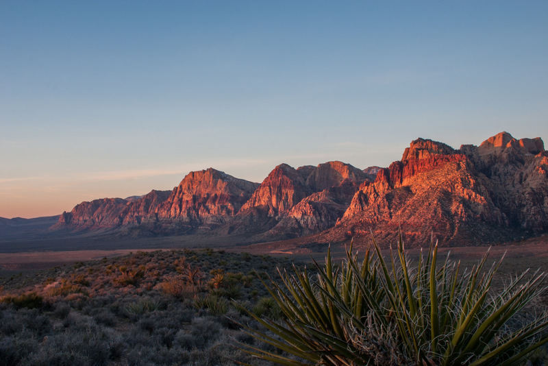 Red Rock Escarpment Sunrise landscape photo of Red Rock Canyon Nevada by Dan Bourque