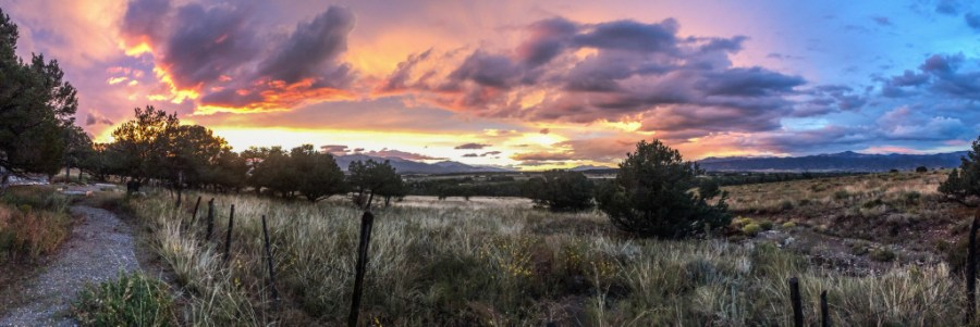 Sunset over Central Colorado landscape panorama by Dan Bourque