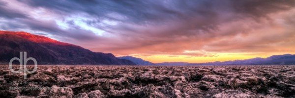 Colorful Death Valley panorama landscape photo by Dan Bourque