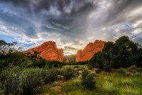 Glory Behind the Rocks landscape photo Garden of the Gods Colorado by Dan Bourque