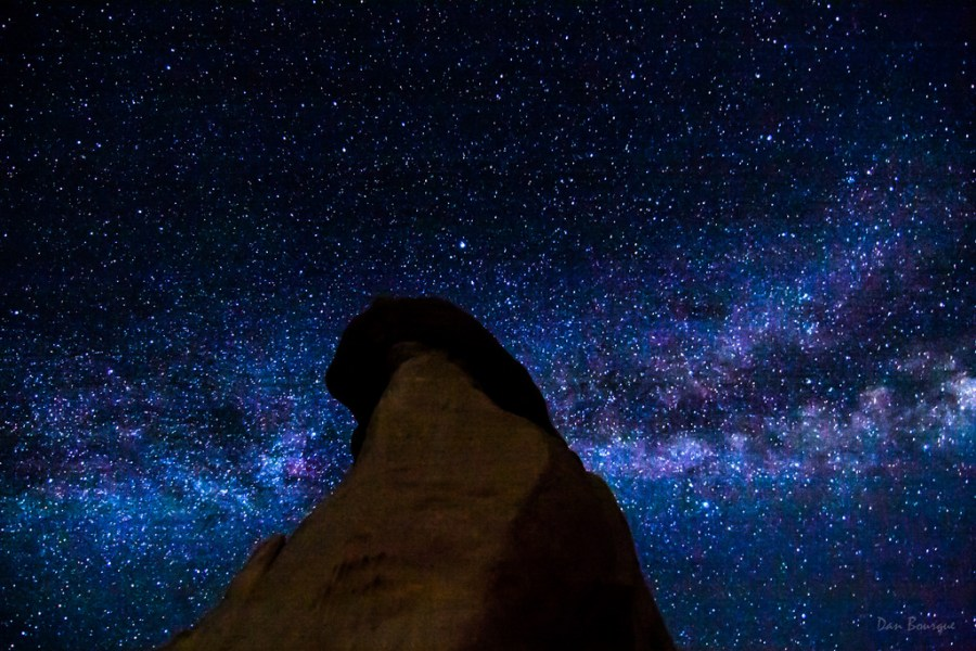 Reaching for the Milky Way night sky photo of Paint Mines Colorado by Dan Bourque