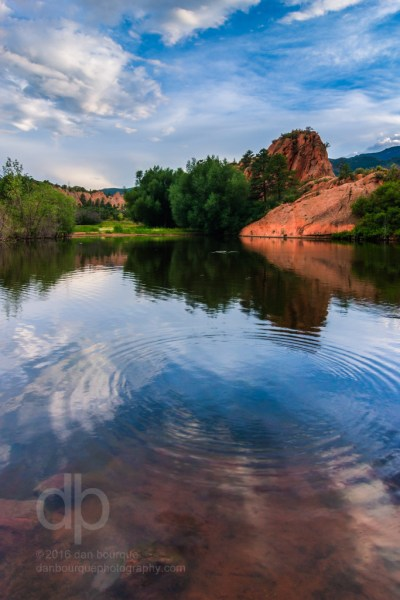 Red Rocks and Ripples landscape photo by Dan Bourque