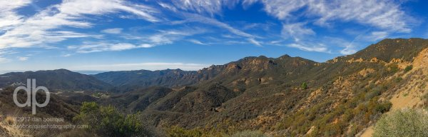 Santa Monica Mountains panoramic landscape photo by Dan Bourque
