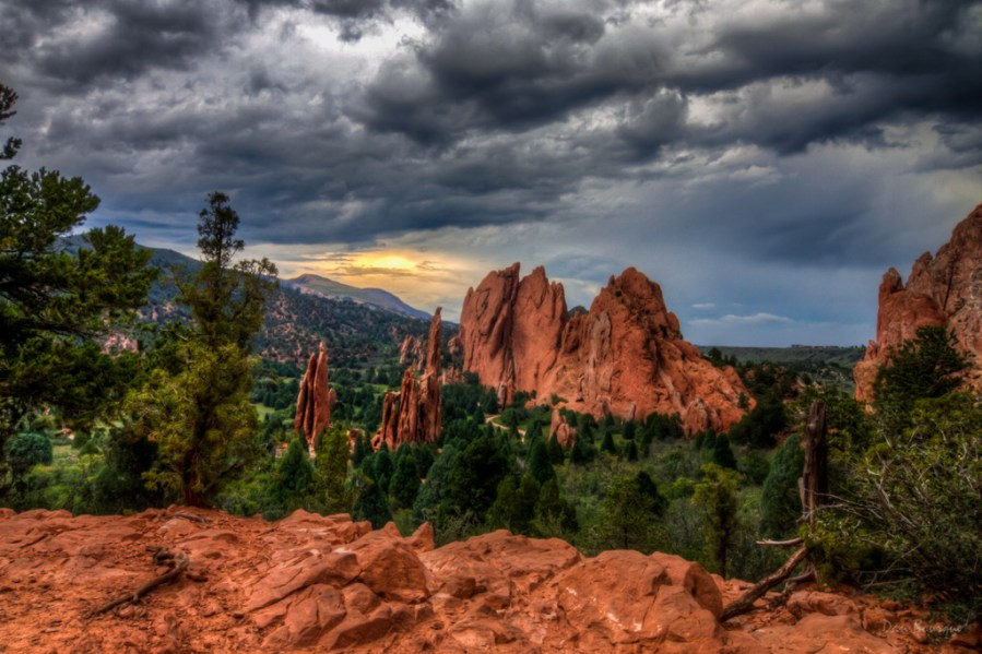 Storm Clouds over the Garden landscape photo Garden of the Gods Colorado by Dan Bourque
