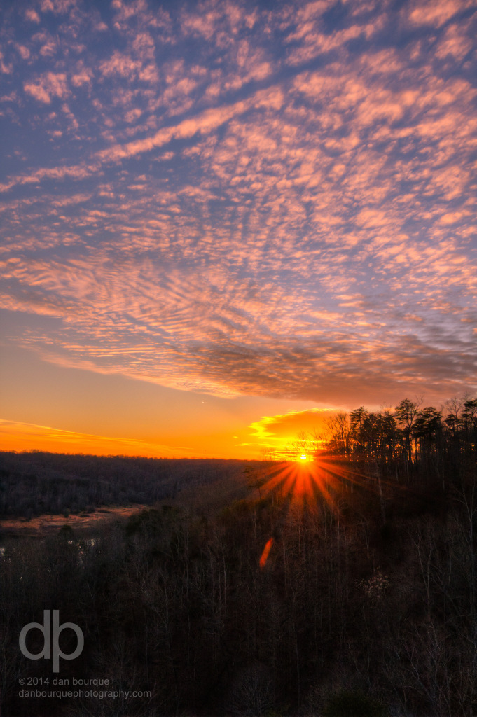 Sunset over Lake Cumberland landscape photo of Kentucky by Dan Bourque