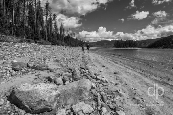 Walking Rocky Mountain Shores landscape photo by Dan Bourque