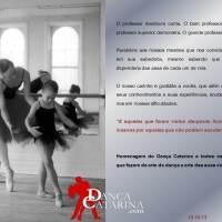Parabéns a todos os professores que fazem da arte da dança a arte das suas vidas!