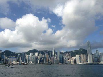 香港島(九龍から)