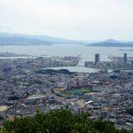 立花山から博多湾眺望(基山&大野城)