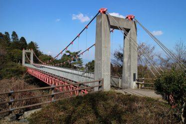 中腹のつり橋s53年竣工
