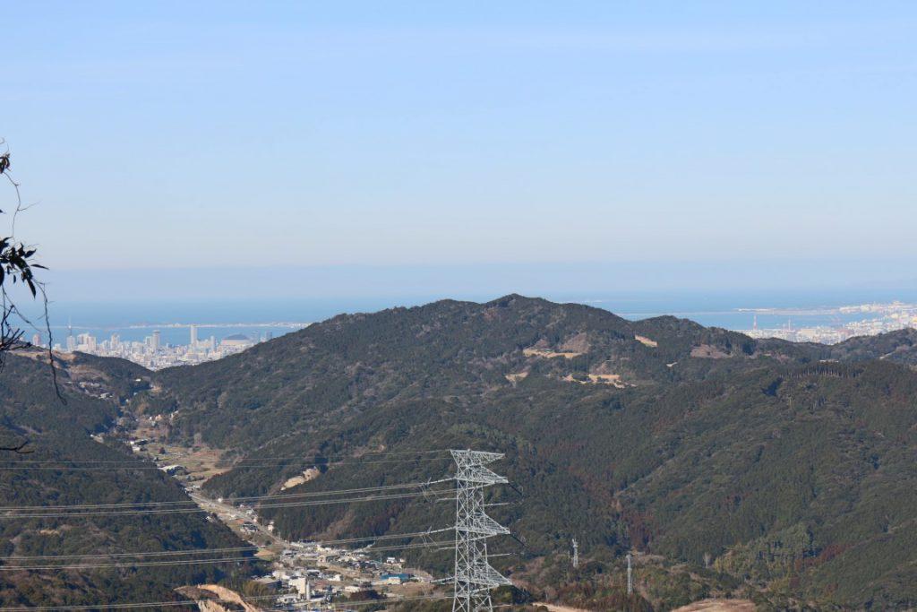 鷲ヶ岳から博多湾眺望