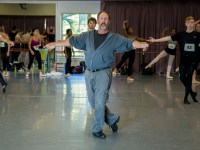 Rick McCullough leading School of Dance Auditions. Photo by Meagan Helman