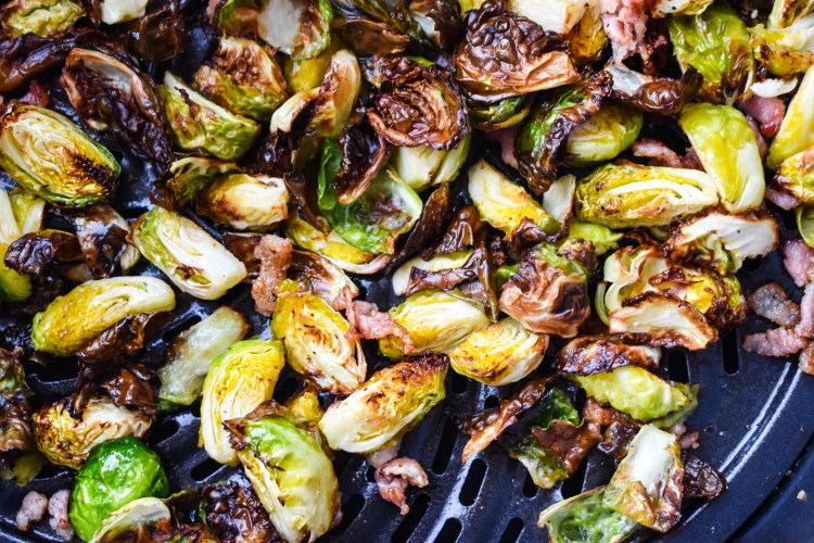 Brussels Sprouts in an air fryer