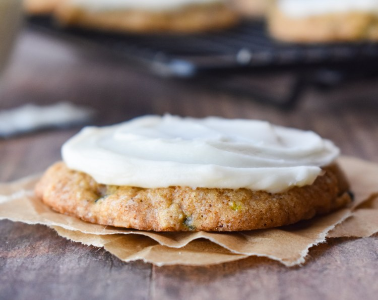 Zucchini Cookie with frosting