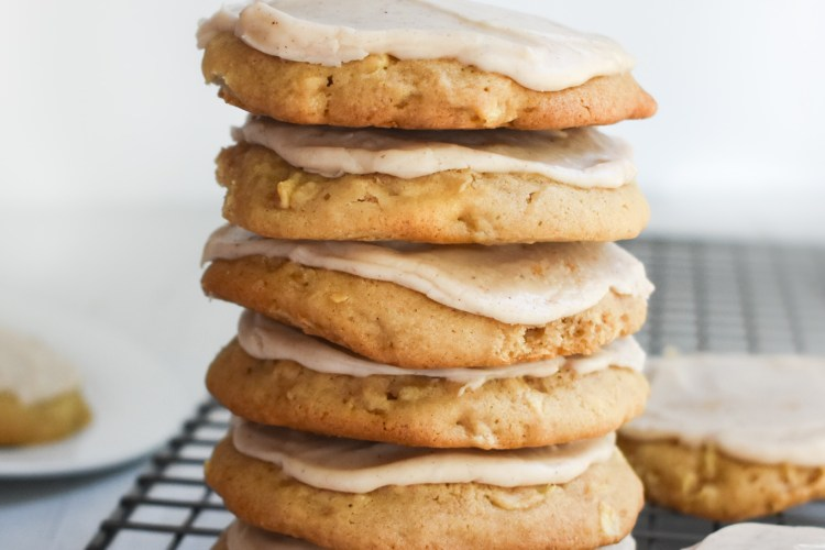 Frosted Apple Cookies