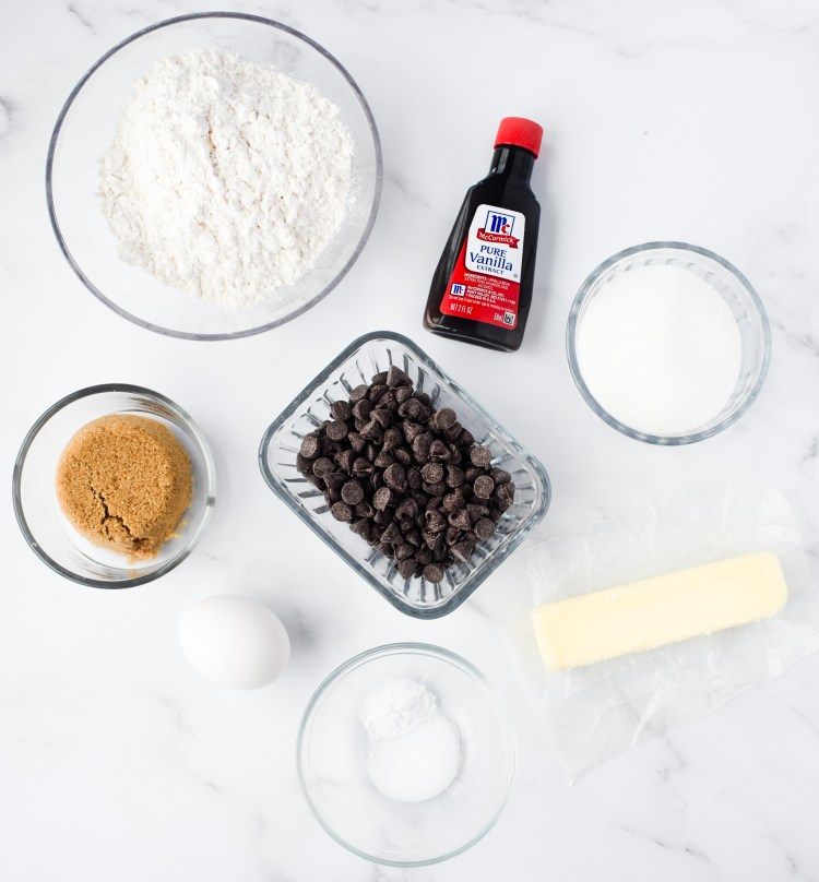 Chocolate Chip Cookie Bars ingredients