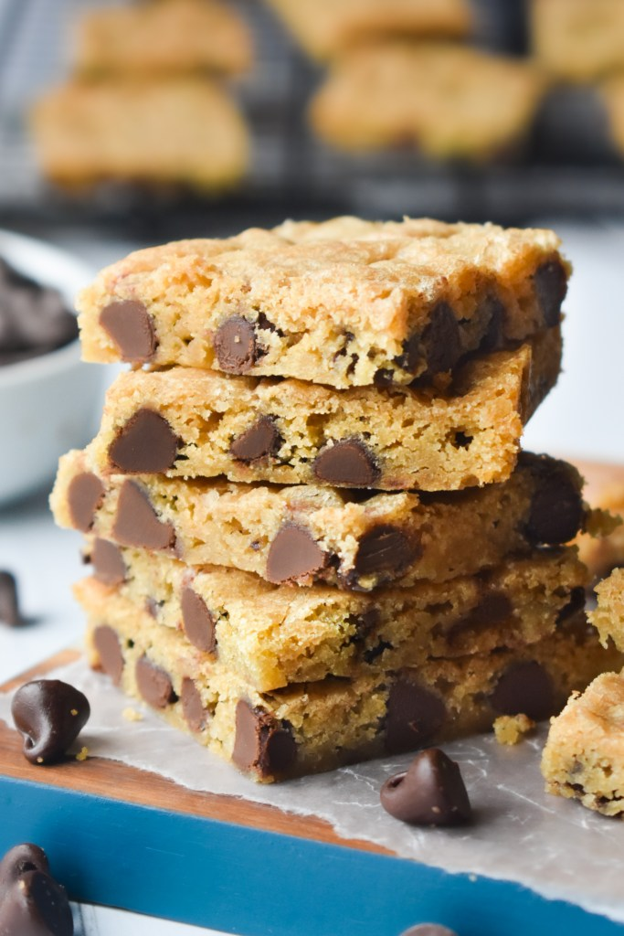 Stack of Chocolate Chip Cookie Bars