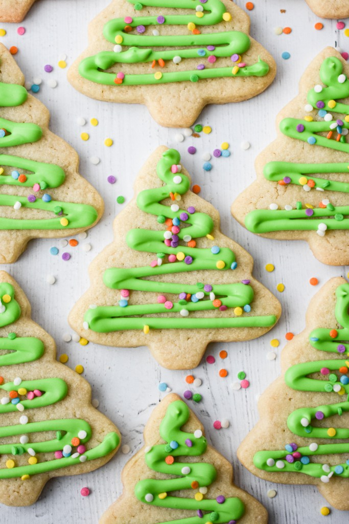Cut-Out Sugar Cookies on a table