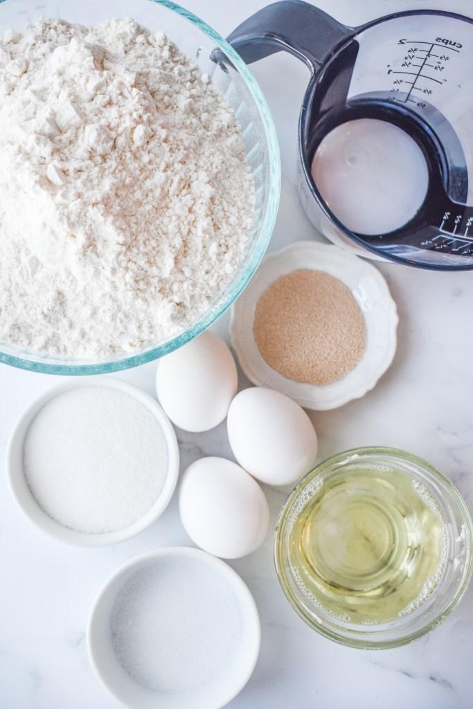 Ingredients needed for Butterhorns