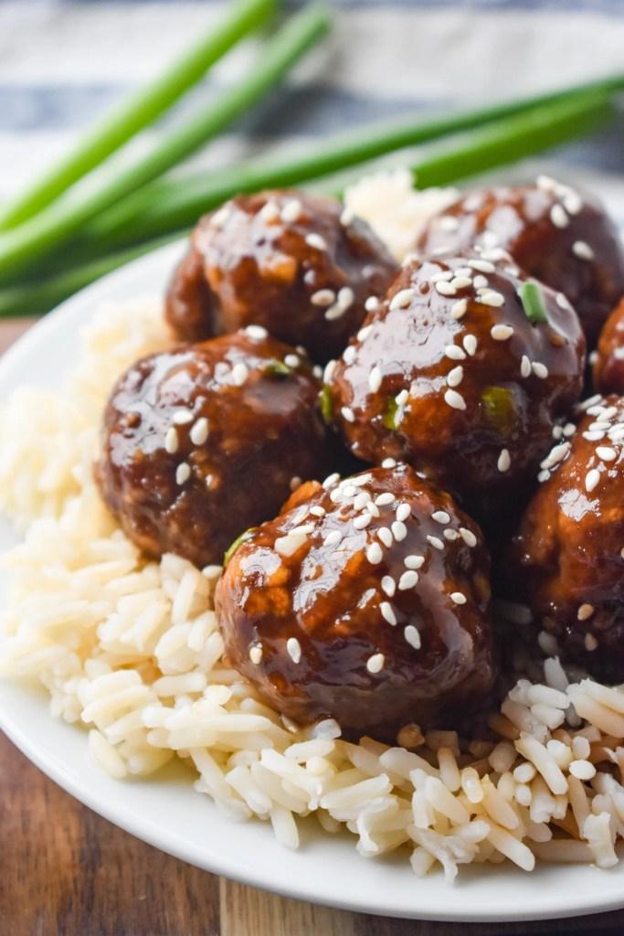 Korean Meatballs over rice