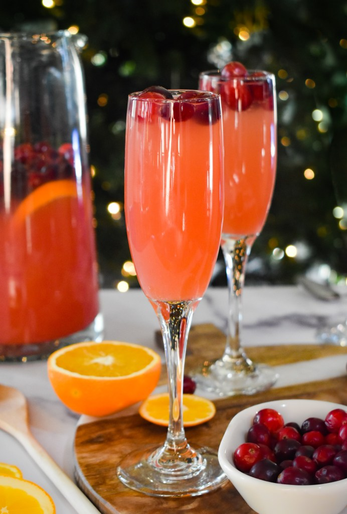 Christmas Cocktail in two glasses