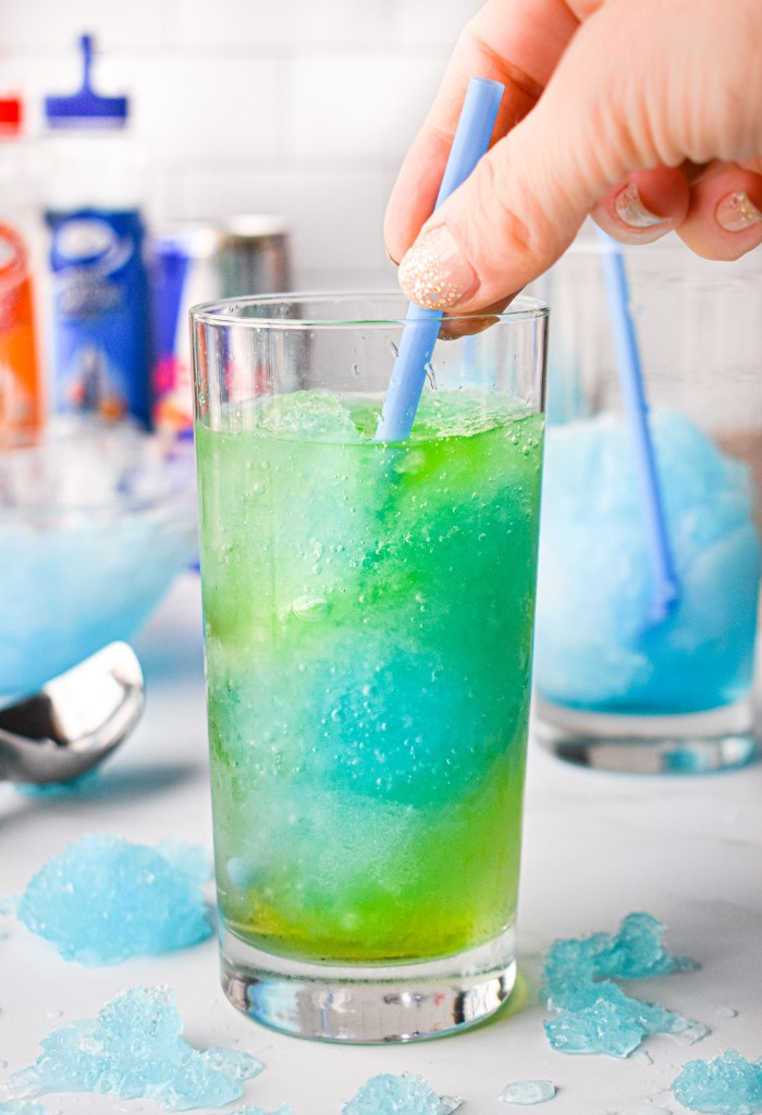 Irish Trash Can Drink being stirred