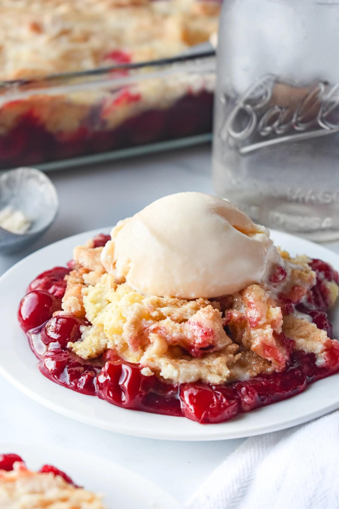 Cherry Cheesecake Dump Cake by Dance Around The Kitchen - WEEKEND POTLUCK 466