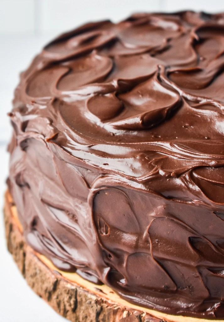 Close-up of Layered Chocolate Cake