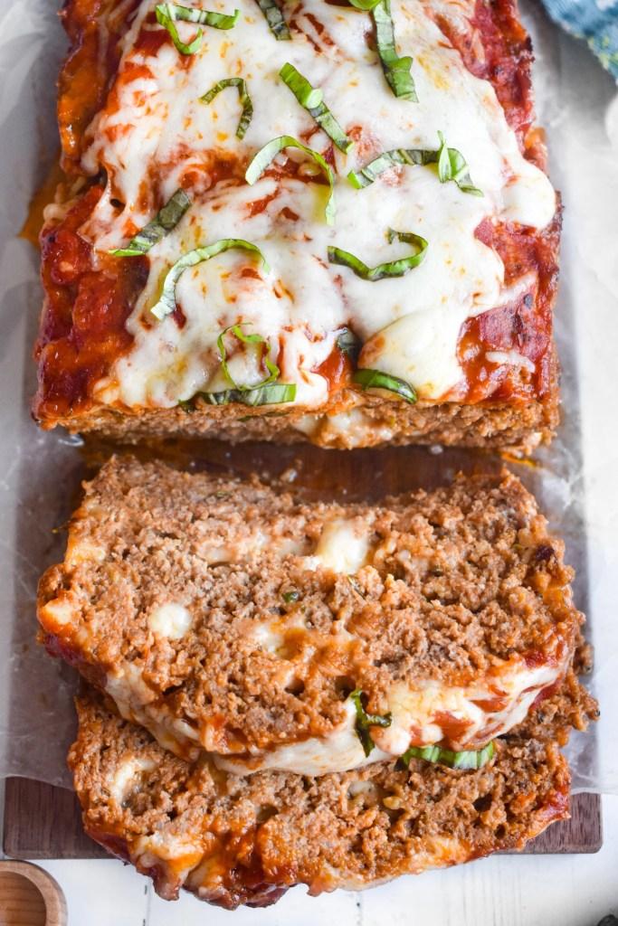 Sliced italian meatloaf