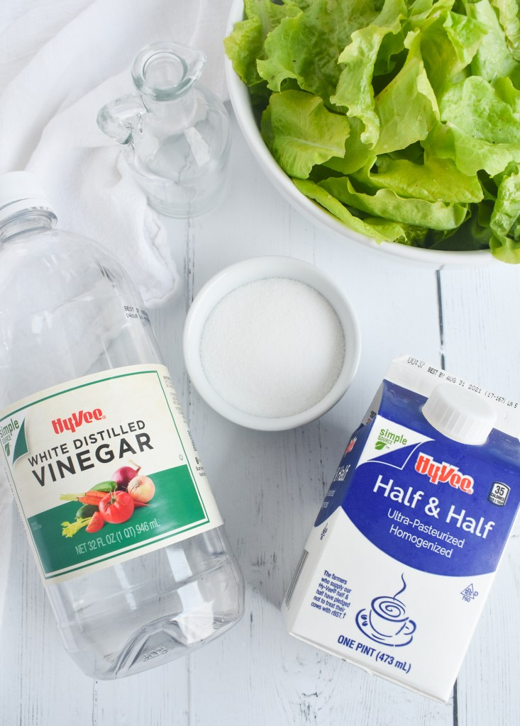 ingredients for garden lettuce dressing