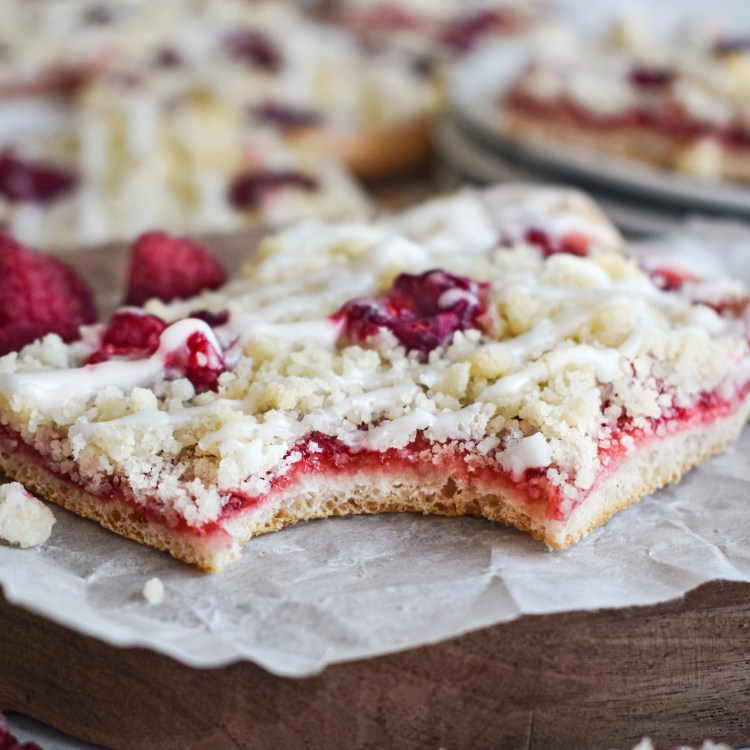 dessert pizza with a bite out of it
