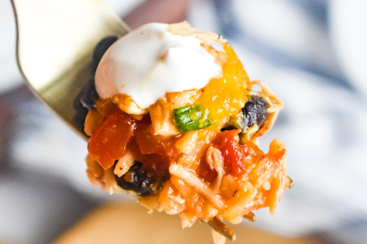 spoonful of mexican chicken casserole