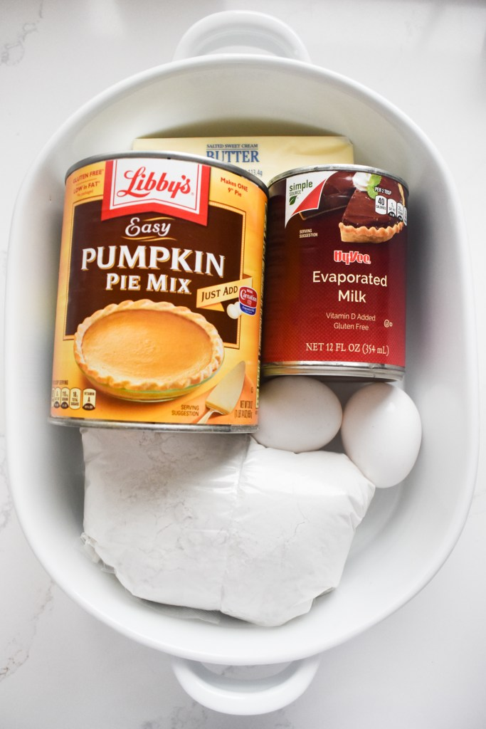pumpkin dump cake ingredients