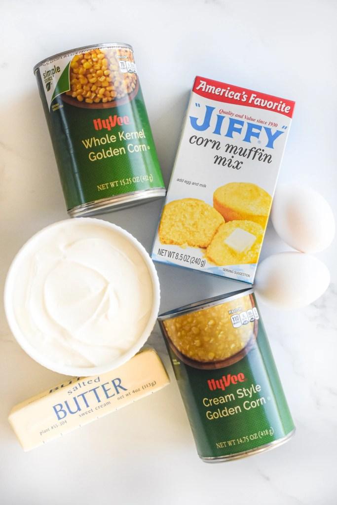 cornbread pudding ingredients