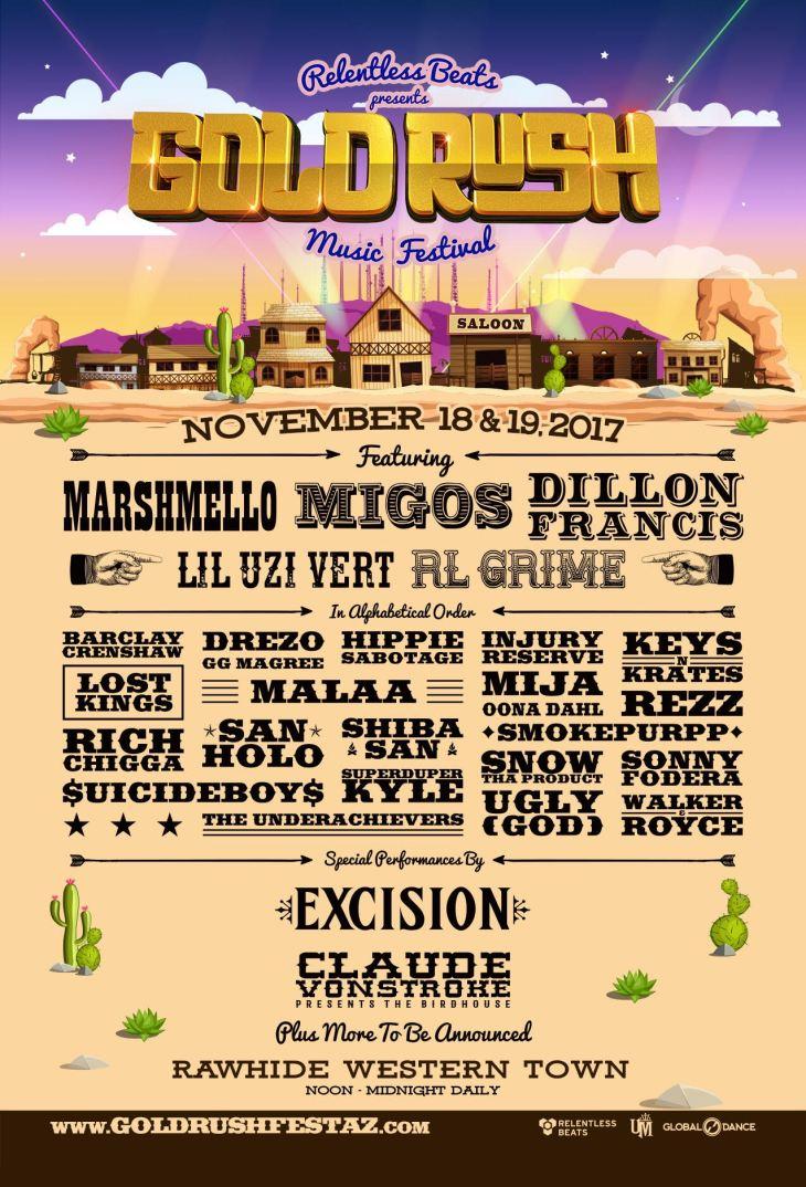 Goldrush Music Festival 2017 Lineup