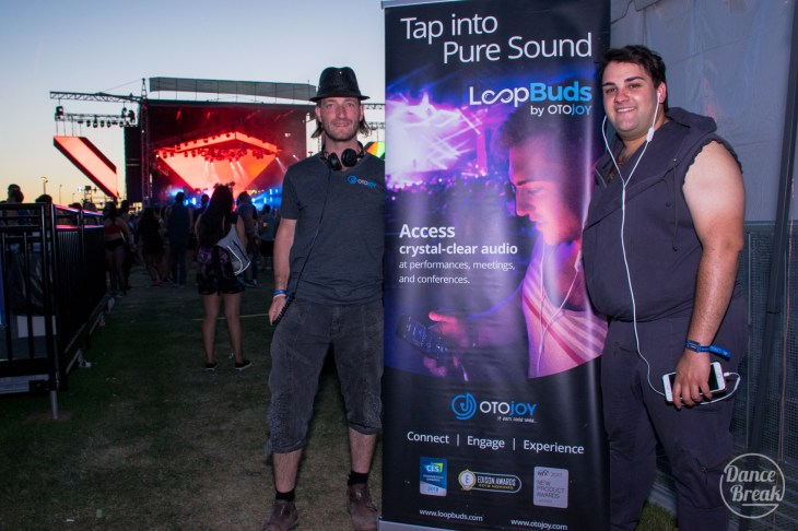 Founder Thomas Kaufmann and Outreach Specialist Micah Thomas at Phoenix Lights