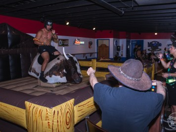 Mechanical bull at Goldrush 2019
